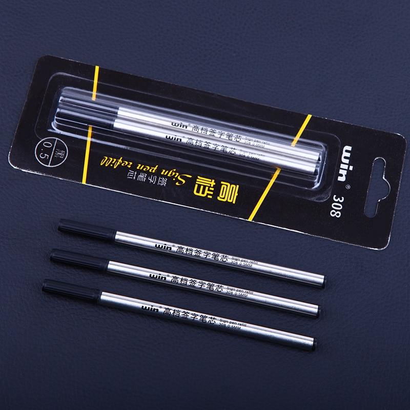 Winning 308 Business Metal Sign Pen Refill 0.5mm 0.7mm Black Refill For Ballpoint/rollerball Pen School Office Supplies