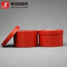 Xin Jia Yi упаковка круглое печенье Оловянная банка для специй с окном на заказ Печать чай Оловянная маленькая пустая алюминиевая банка для конфет