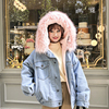 2018 New Warm Winter Bomber Women Spring Autumn Hooded Coat Jeans Denim Jackets Basic Ladies One