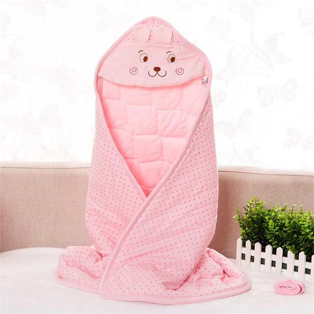 Mantas De Algodón del bebé Recién Nacido Kid Abrigo Manta de Bebé Niño Niña de Dibujos Animados Dormir Ropa de Cama de Bebé Infantil Swaddle Cobertor Envoltura 50X0007