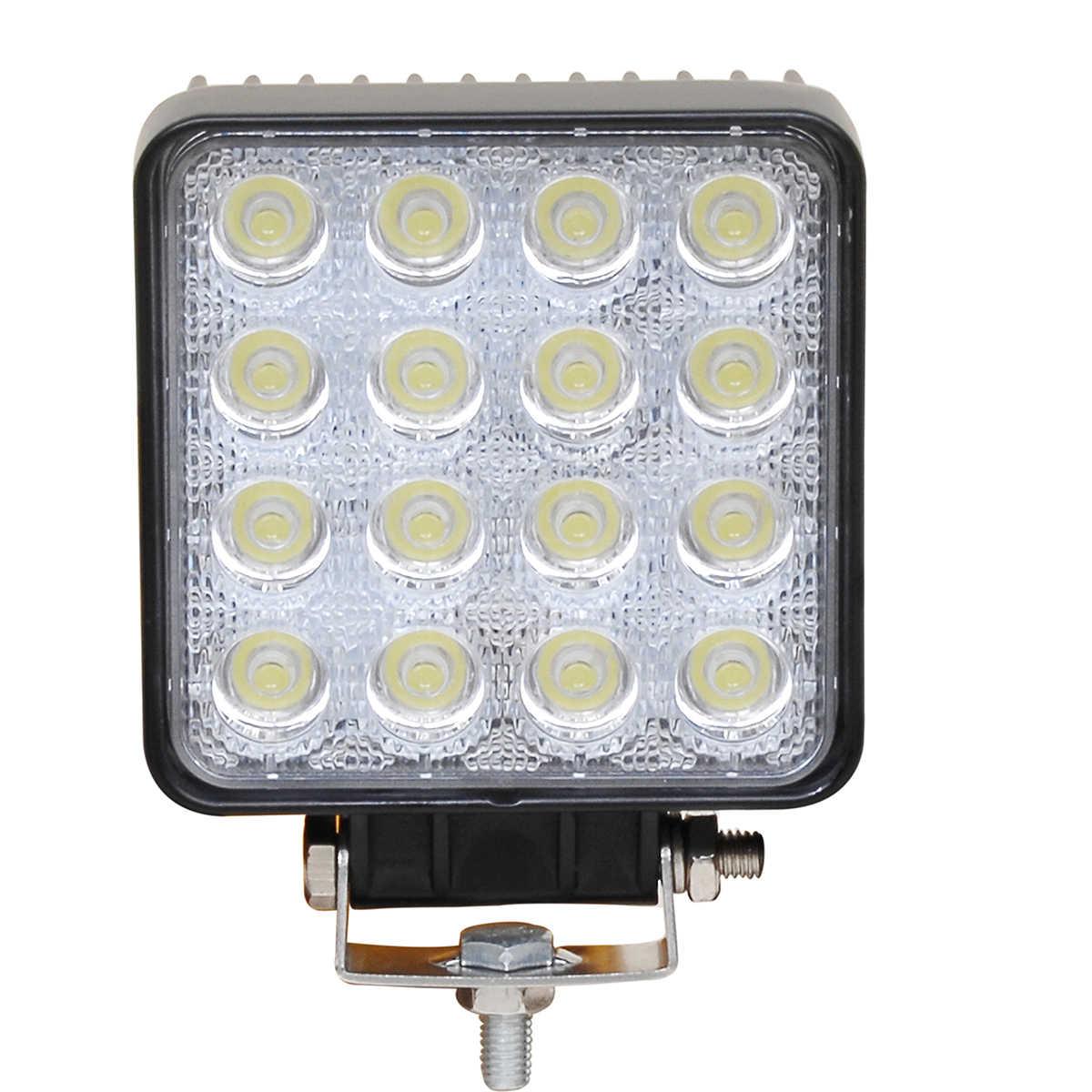 Modoao 1 Buah 10 Pcs Tahan Air 48 W Banjir/Tempat Lampu Kerja LED Bar Lampu Tahan Air Mobil Truk Offroad LED lampu Kerja 12 V 24 V