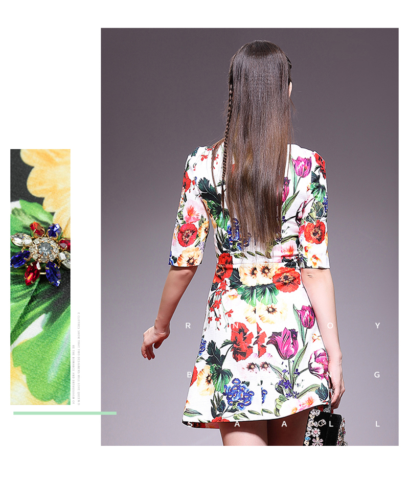 85e6d1828dfa0c Kleid Blume Qualität Sommeramp  Frühling Luxuriöse Eleghant Mode Hohe  Vestido Vintage Miuximao Frauen Diamanten Casual 2019 rBCWoQdxe