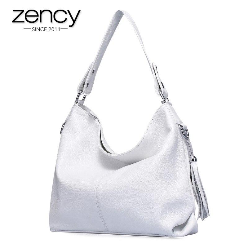 2017 New Fashion Soft Real Genuine Leather Tassel Woman Handbag Ladies shoulder