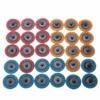 30pcs 2 Roloc Roll Lock Surface Sanding Disc Conditioning Fine Medium Coarse Sanding Pad