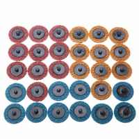 30pcs 2 Roloc Roll Lock Surface Sanding Disc Conditioning Fine Medium Coarse Sanding Pad