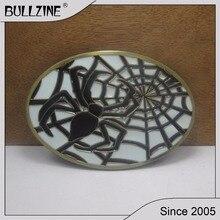 Пряжка ремня Bullzine spider с черным покрытием FP-01862 подходит для ремня шириной 4 см