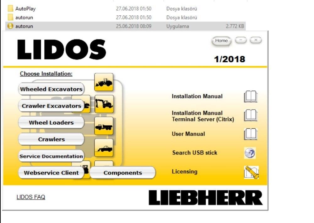 Liebherr Lidos 2019 Toutes Les Pièces et Service Ensemble Complet (Mise À Jour en ligne à 2019) Hors Ligne + HDD500GB