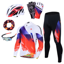 New Pro Cycle Clothing MTB Bicycle Jersey Cycling Set Men Summer Long Sleeve Women Bike Clothes 3D Padded Cycling Equipment Suit cycling clothing limited men sleeve bicicletas riding suit long 2017 new summer sleeved male bicycle for jersey