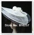 Бесплатная доставка высокое качество sinamy fascinatos/перо цветы, хороший свадебные аксессуары для волос/партийные шляпы/свадебные шляпы FS70