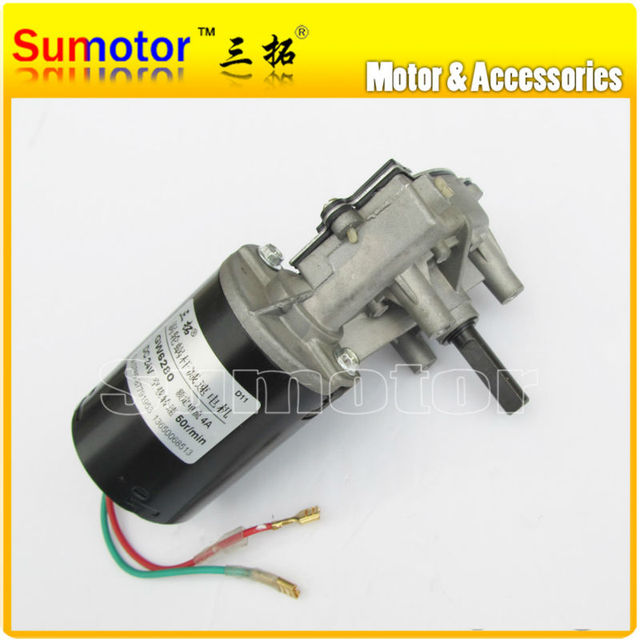 be95c30ab02 GW6280 24 V DC 30 50 100 rpm eléctrico Motor de engranaje de versión  correcta de