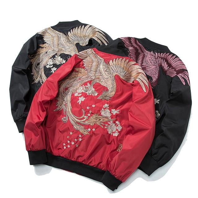 Aelfric Eden 2018 Spring High Street Phoenix Embroidery Jacket Coat Plus Size Casual Outwear Hip Hop Bomber Jackets XS-XXXL LQ05 5