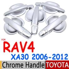 Для Toyota Rav4 2006-2012 XA30 хромированные покрытия для дверных ручек отделкой 5 двери аксессуары наклейки на авто-Стайлинг 2007 2008 2009 2010 2012