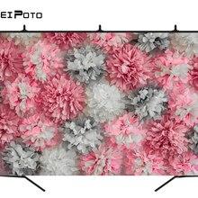 BEIPOTO розовый белый бумажный цветок фон для фотографии ребенка для именинного пирога smash фото фон новорожденный студия реквизит