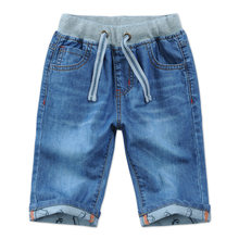 2018 new summer boys jeans denim shorts 50% length blue cotton boys jeans child clothes elastic waist kids shorts boys DQ276(China)