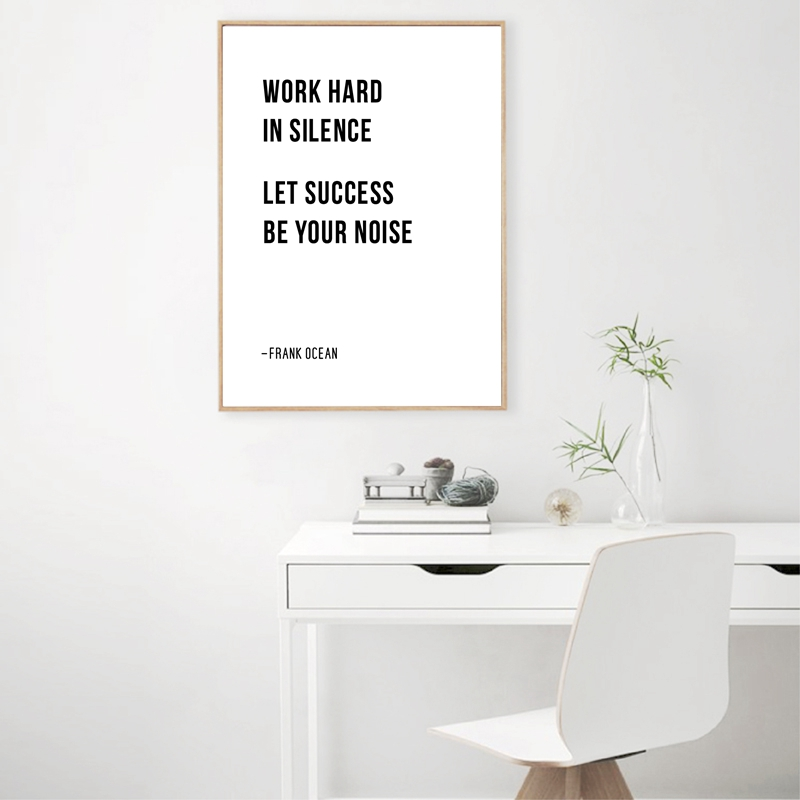Work Hard In Silence Quote Canvas Prints Home Decor
