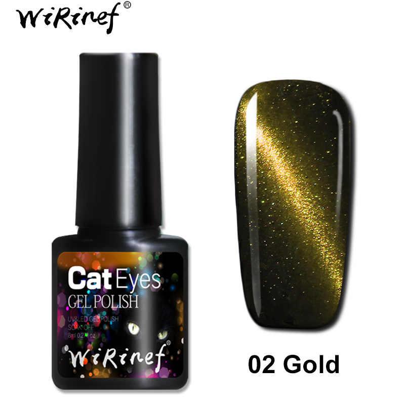 Limpiinef 8 ml imán mágico ojo de gato capa superior Gel esmalte de uñas plata rojo púrpura magnético estrellado efecto uñas gel laca pegamento