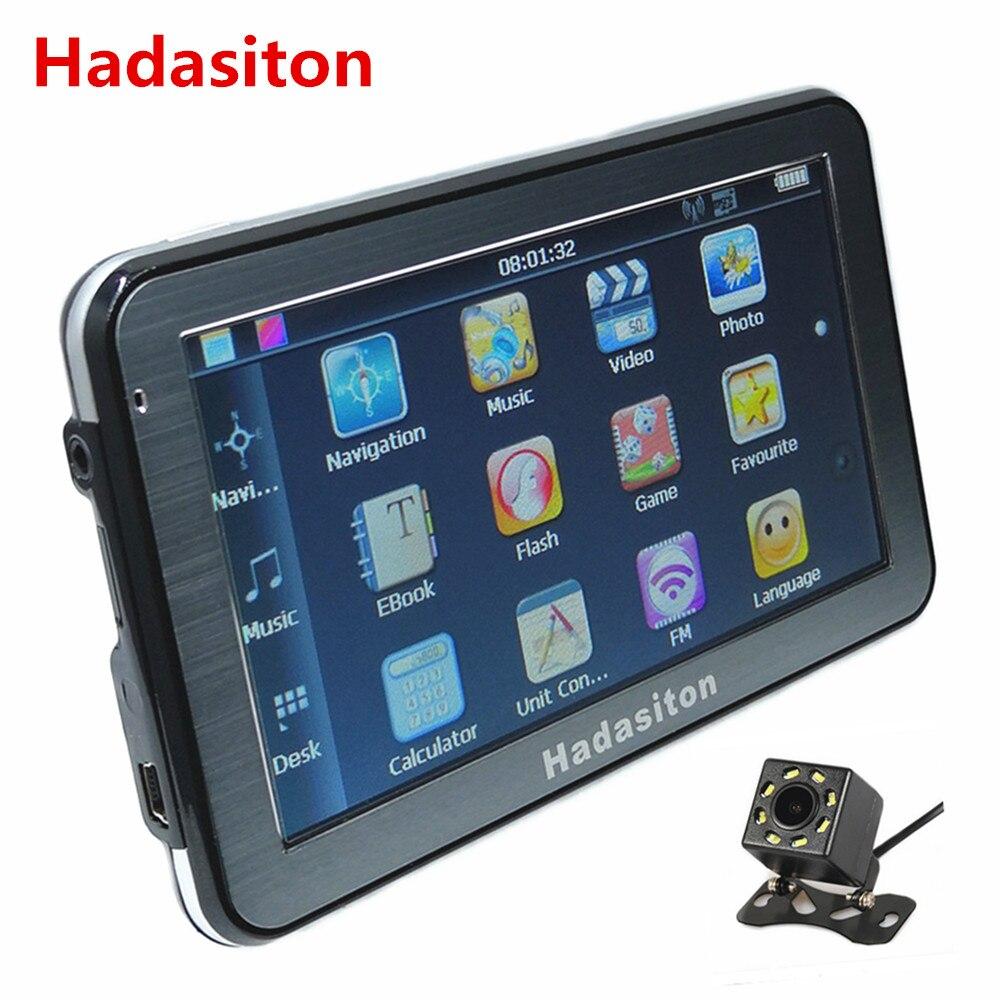 Hot sale 5 touch Screen Car GPS Navigation Sat NAV CPU800M 8G FM Bluetooth AV IN