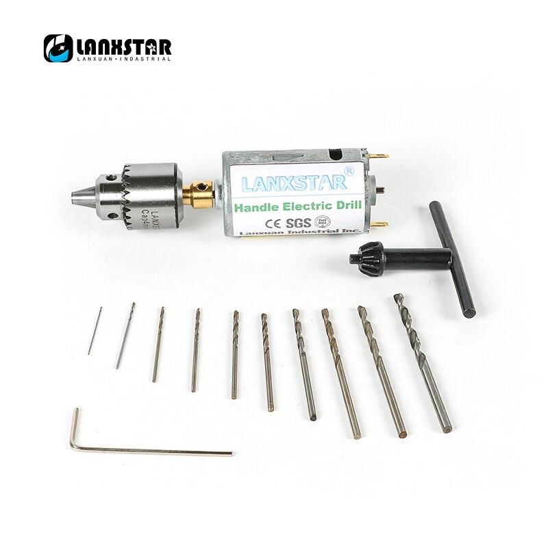 Mini broca elétrica da imprensa do motor do pwb da broca da mão da c.c. 12 v conjunto compacto 0.5-3mm bocados da torção 0.3-4mm jt0 mandris broca em miniatura
