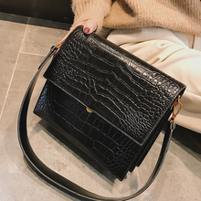 Fashion Alligator Small Flap Bags Women Shoulder Bags Simple Tote Casual Crocodile Pattern Crossbody Bag For Lady Messenger Bags