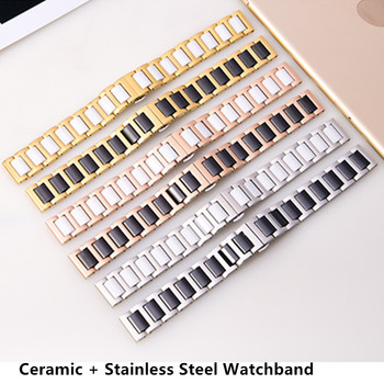 14mm 16mm 18mm 20mm 22mm ceramic and stainless steel watchband Quick Release Watch Band Watch Strap цена 2017