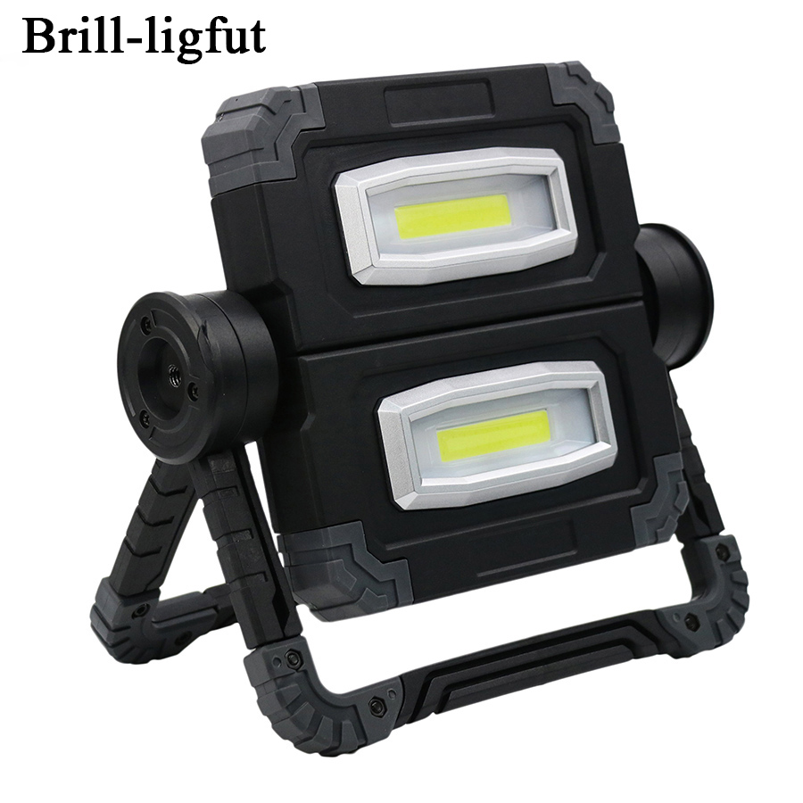 Портативный USB светодио дный перезаряжаемый светодиодный COB рабочий свет складной Открытый водостойкий прожектор для охоты кемпинг светод...
