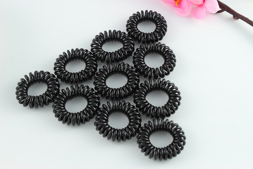 Hair Accessories Telephone Wire Hair rope ring for girls Hair Bands Ponytail Holders Gum black elastic rubber Band hair rings 10pcs 55mm enamel black elastic ponytail holders hair accessories for girl women rubber bands tie gum mix style