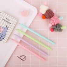 цена на 24 Pcs/Lot Stocking Hat Gel Pen 0.5mm Roller Ball Pen Black Color Pens Gift Stationery Office School Supplies Papelaria  F886