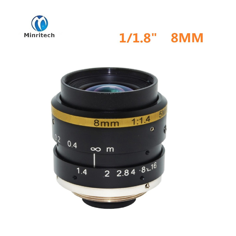 china manufacturer high resolution super-low distortion 2/3 inch f1.6 machine vision CCTV lens 8mm high quality 20 chau gong from china manufacturer arborea