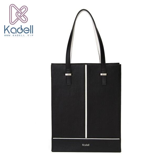 Kadell новый роскошный Сумки Для женщин Сумки дизайнер 2017 Офисные женские туфли вертикальный Сумки на плечо черный, белый цвет из искусственной кожи Повседневное сумка