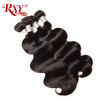 RXY Body Wave Hair Indian Remy Hair Bundles 1PC Natural Color 100 Human Hair Bundles Double
