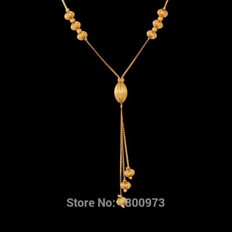Unique Design Gold Necklaces Pendants18K Gold Color Fashion Jewelry