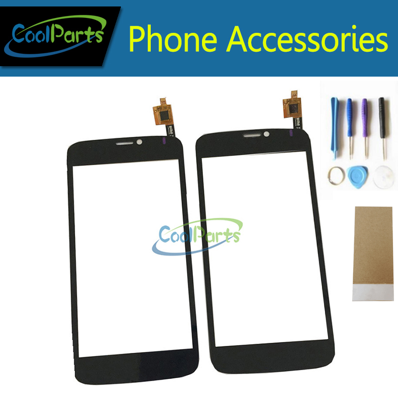 1PC/Lot High Quality For Prestigio MultiPhone PAP 3502 DUO PAP3502 Touch Screen Digitizer Panel Glass With Tool&Tape Black Color
