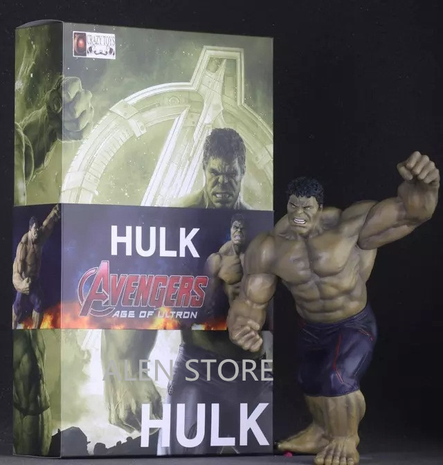 ALEN Avengers II Action Figures Hot Toys Super Hero Marvel's PVC 30cm Model Gifts Mjolnir The Incredible Hulk Anime