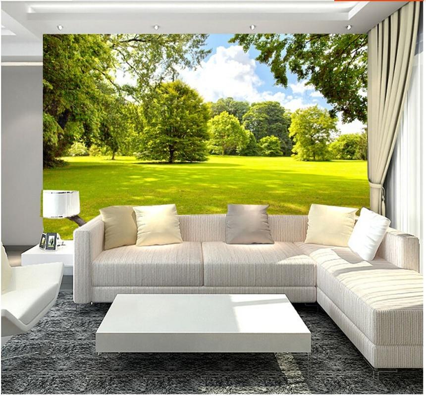 Custom landscape wallpaper,Sunshine tree, 3D wallpaper mural for - 3d wallpaper for living room