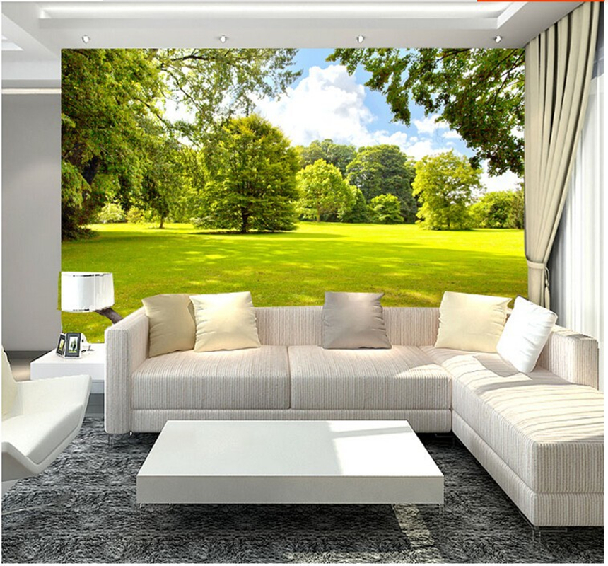 personnalis papier peint paysage soleil arbre 3d papier peint pour le salon chambre cuisine. Black Bedroom Furniture Sets. Home Design Ideas