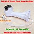 Pan tilt motorizado cctv soporte de la cámara eléctrica rs485 preset scan p/t horizontal vertical de soporte de rotación impermeable al aire libre