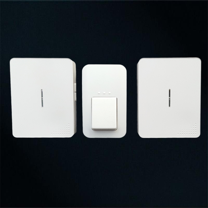 no battery wirelss door bell 120m long control 1 push button +2 chime self powered no cabling doorbell door bell high quality  2 push buttons 1 doorbell remote control wireless cordless door bell 38 ring tones no battery self powered button door bell