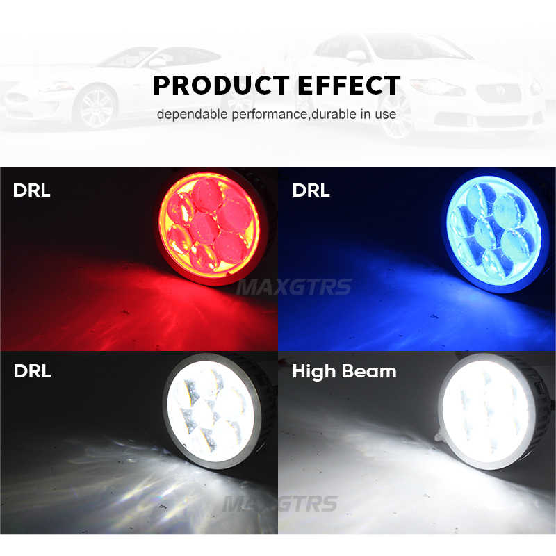 2x 3.0'' Car LED Projector Lens High Beam Lights Daytime Running Lights Devil Eyes DRL H1 H7 9005 9006 LED Light Lens Q45 Style