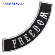 3 colors 350mm wide FREEDOM motorcycle biker patches iron on embroidered patches for jackets clothing embroidery rocker patches
