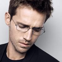 Ручной работы безвинтовое для чтения очки прямоугольник Оптический очки близорукость кадр линз Очки Оригинальный чехол