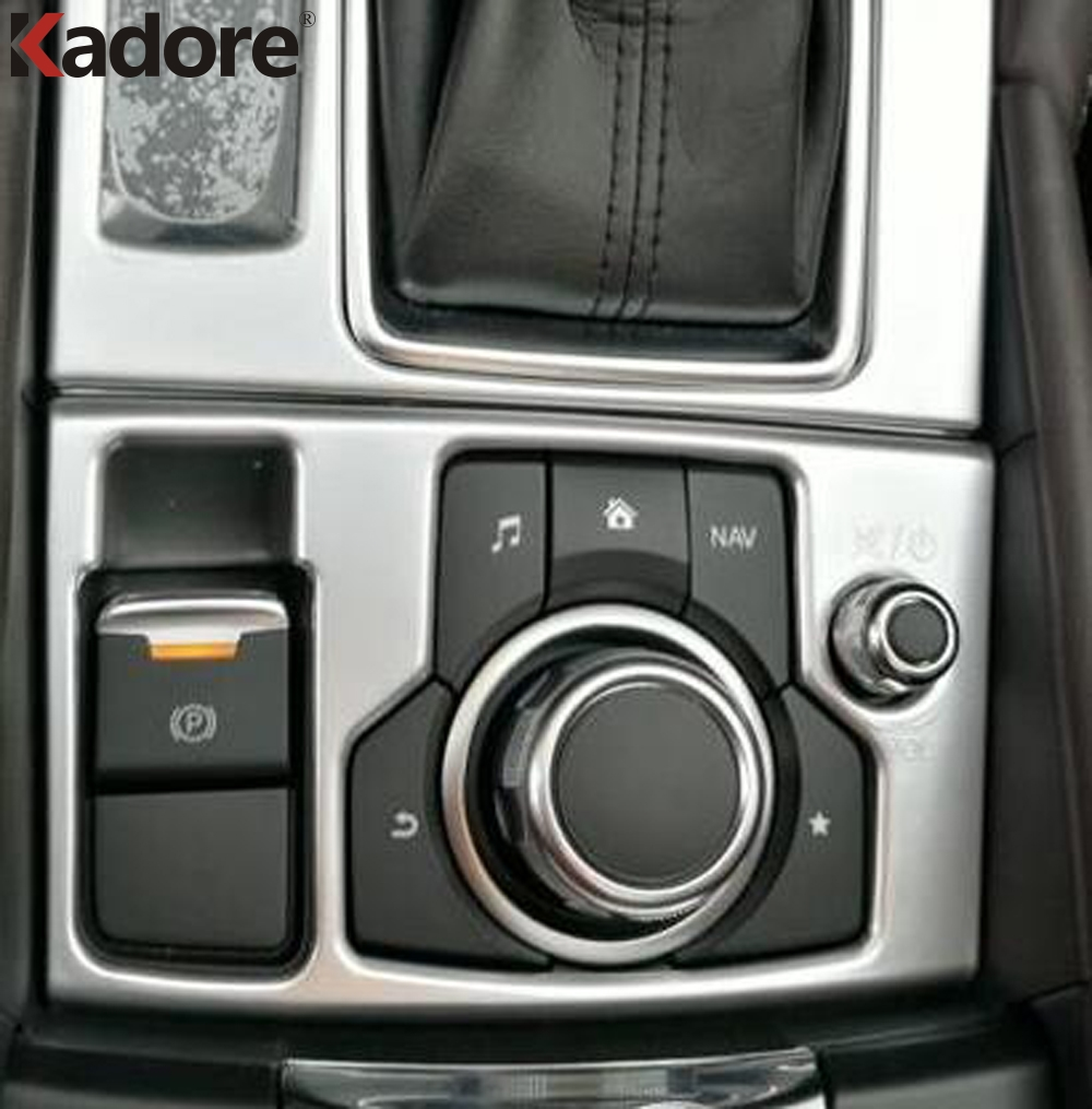 For Mazda 6 Atenza M6 2017 2018 ABS Matte Auto Inner Electronic Handbrake Hand Brake Switch Button Cover Stikers Car Styling LHD