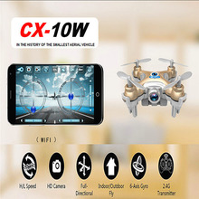 Cheerson CX-10W Mini Wifi 2.4G HD Camera FPV Camera RC Quadcopter Transmission Hobby Mobile Control RC Drone Helicopter