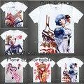 2015 dos homens único Anime T - camisa impressão 3d EVA Neon Genesis Evangelion Rei Ayanami manga curta Casual T camisa Camisetas Masculina