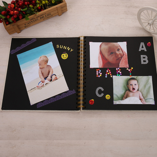 Album Photo en papier Scrapbooking   Cahier De mémoire pour enfants, Fotograf Albumu, bricolage