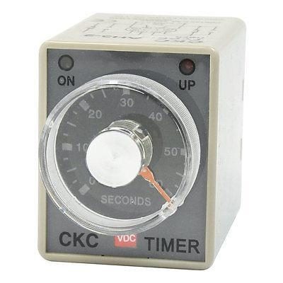 DPDT 8P DIN Rail 0-60 Seconds IC Timer Time Timing Relay DC 24V AH3-2 panel mounted dpdt 8p 10min 0 10m timing time relay ac 220v w led indicator