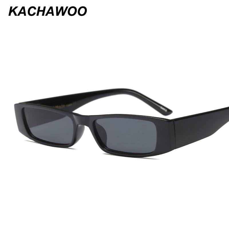 62535bda700 Kachawoo mini rectangle sunglasses men vintage black leopard fashion sun  glasses for women accessories summer 2018