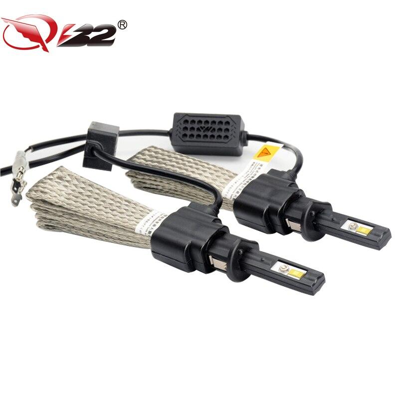 ФОТО Original Brand QR2 Car LED Headlight 20W 3000LM 6500K H1 H3 H4 H7 H8 9002  Car LED Headlight Bulb