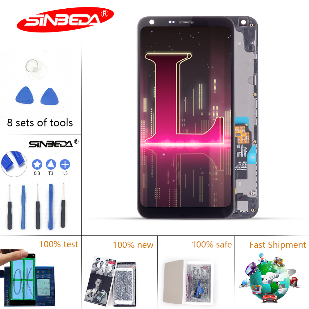 5.5Sinbeda Display For LG Q6 LCD Touch Screen Display Digitizer with Frame M700 M700A for LG Q6 LCD For LG Q6 Display $