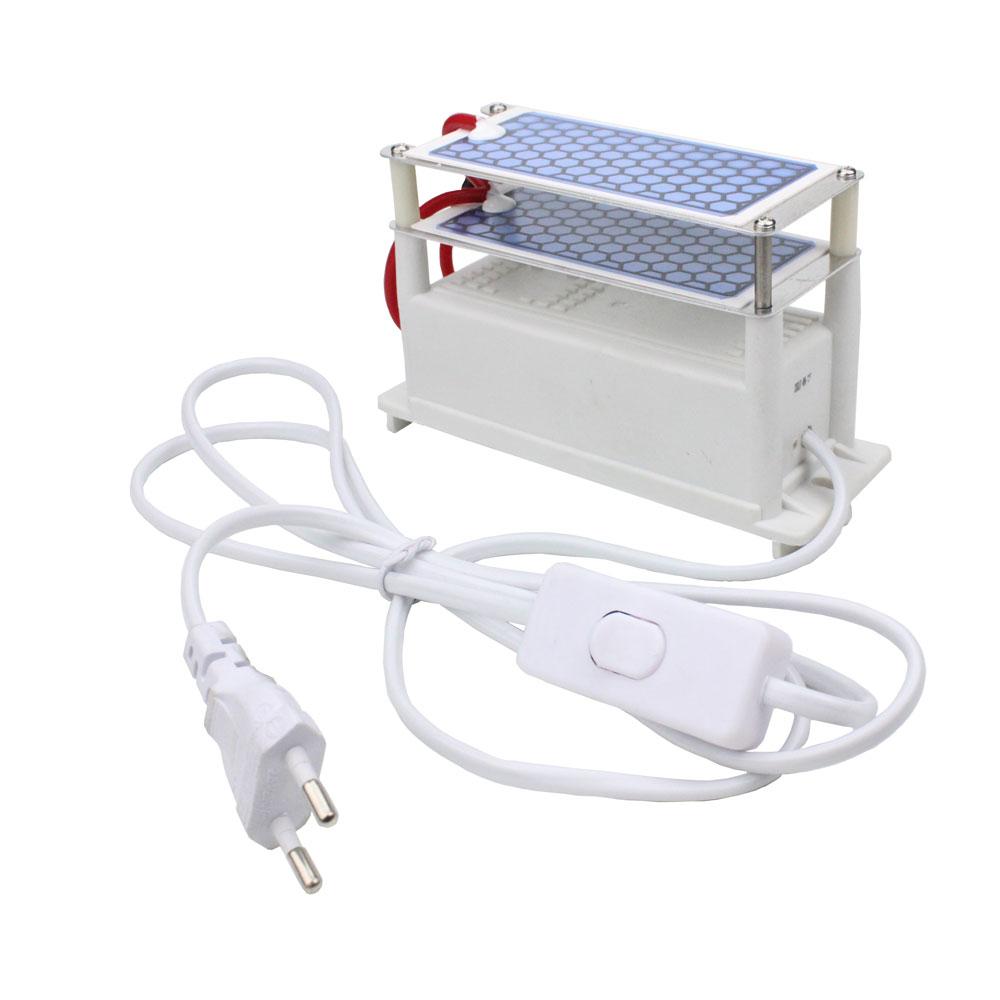 Air Poratable Ceramic 10g/h Ozone Generator 220V Duble Intergrated Ceramic Plate Ozonizer Air and Purifier Ozonator EU Plug 220v 10g h ozone generator air purifier machine ceramic plate sterilizer fan