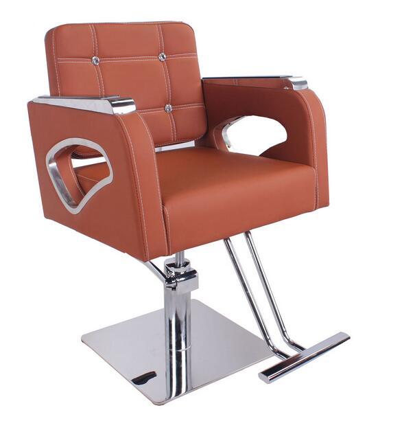 Fashion Hair Salon Chair Barber Chair High-grade Stainless Steel Handrails New 932
